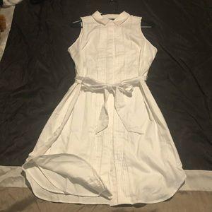 Banana Republic lined shirt dress